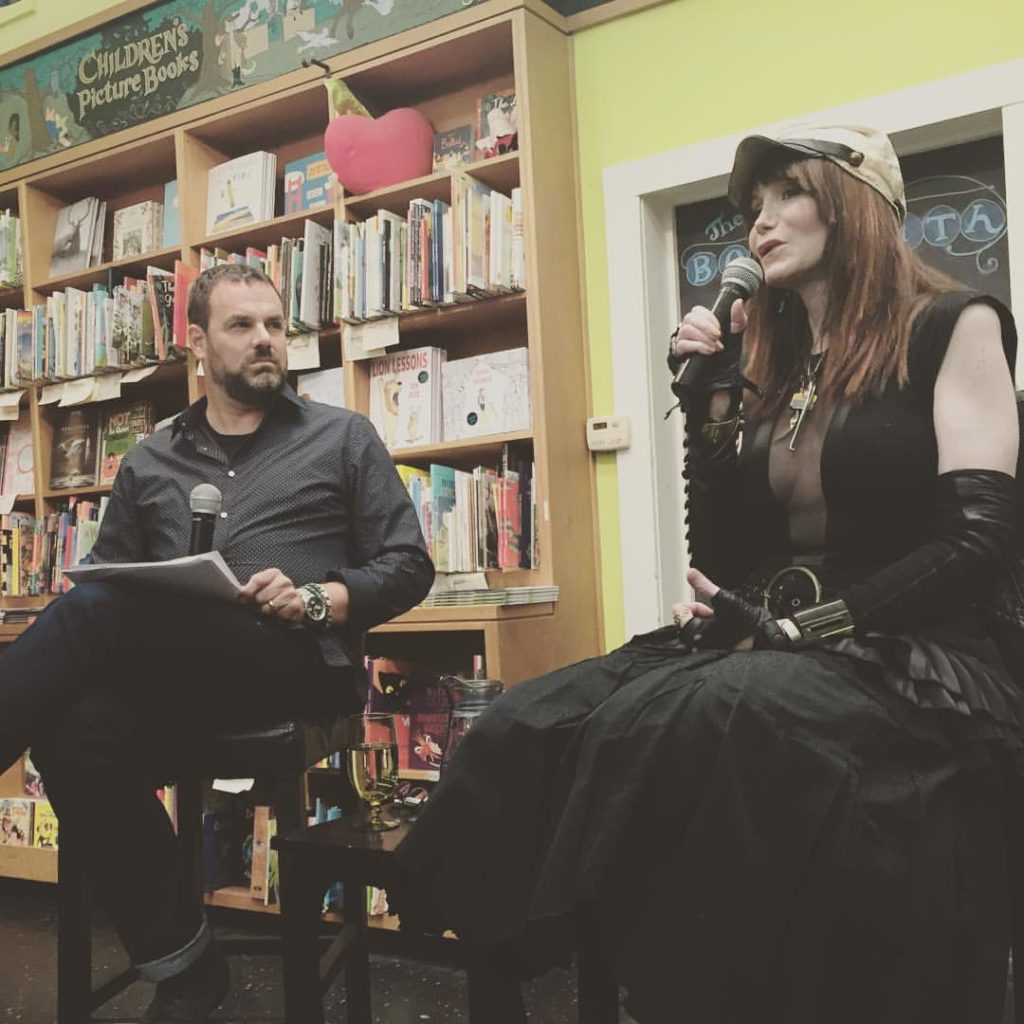 Grant Faulkner and JT LeRoy and Laura Albert at the Booksmith
