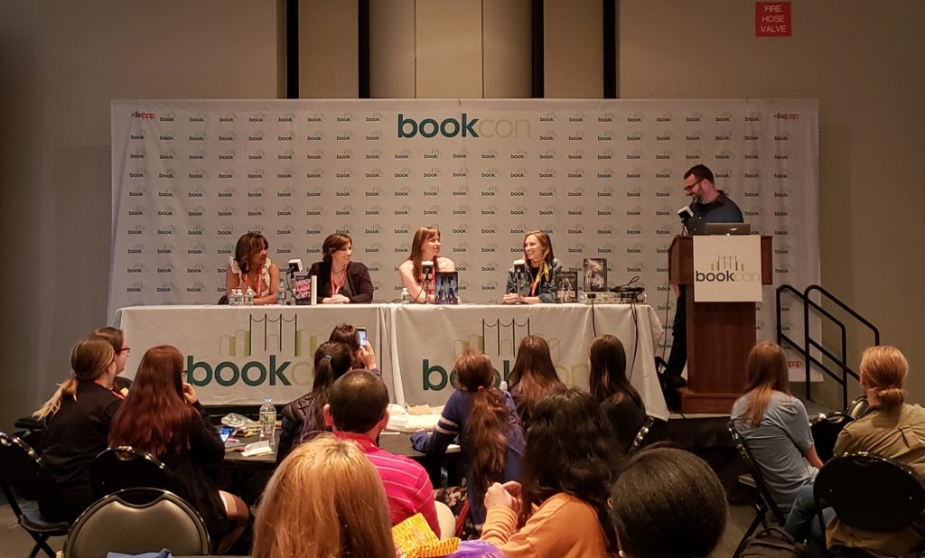 BookCon 2018: Grant Faulkner, Susan Dennard, Marissa Meyer, Kami Garcia, Danielle Paige